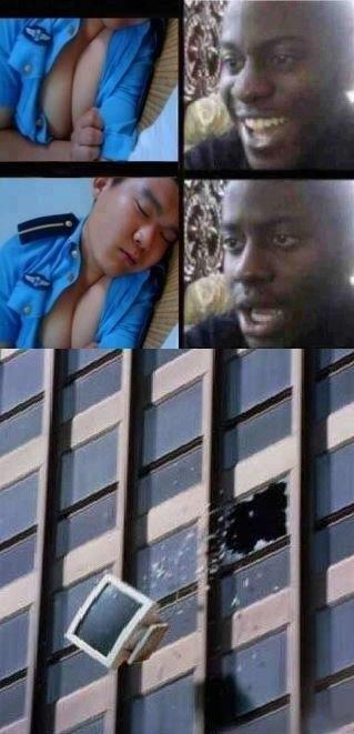 Asians sleeping
