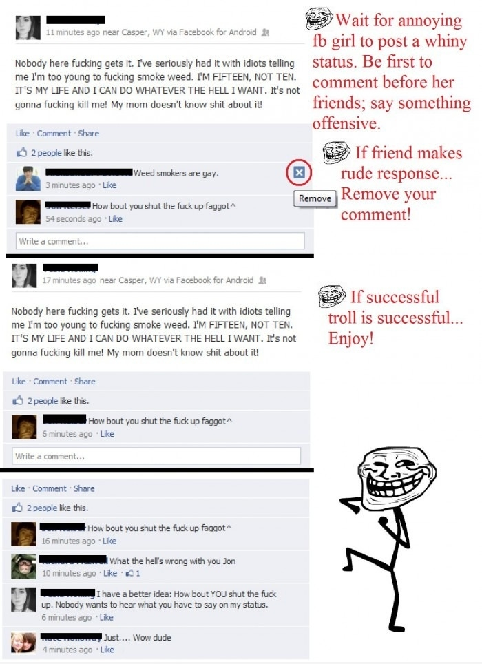 Facebooking like a troll