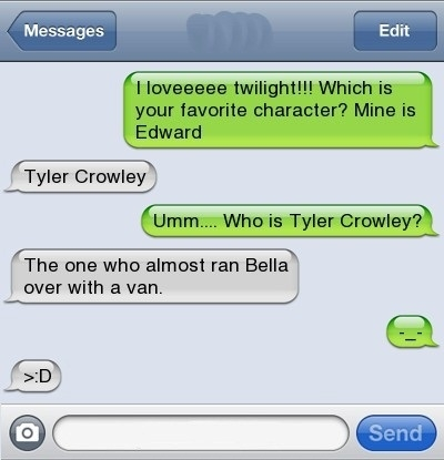 Best character in Twilight!