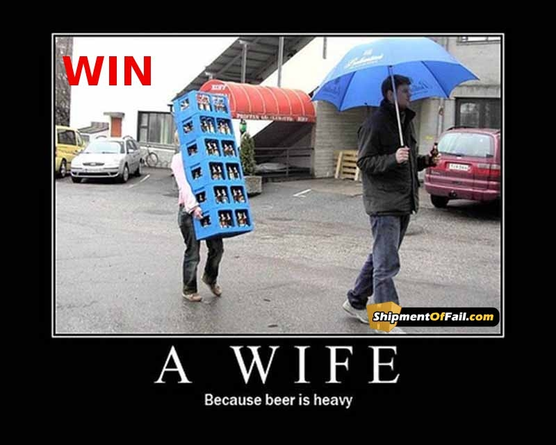 Cuz beer is heavy