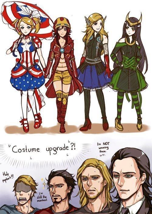 Avengers in Anime