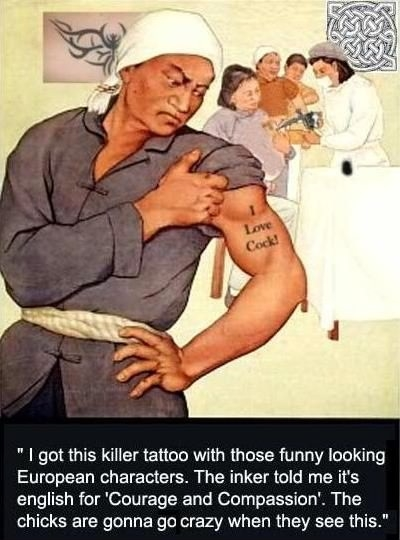 B*tches love European tattoos