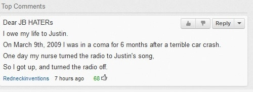 Justin Bieber is saving lives!