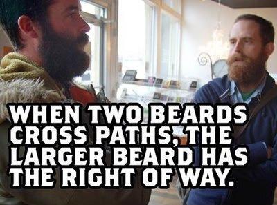 When two beards cross paths
