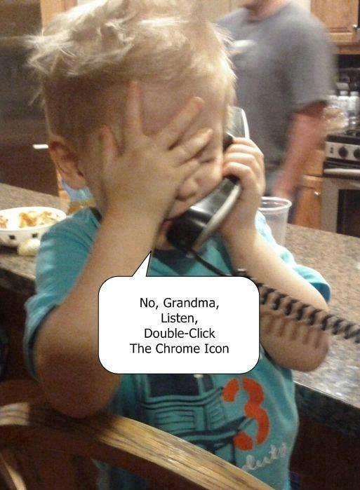Explaining to grandma