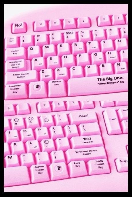 Keyboard for Blondes