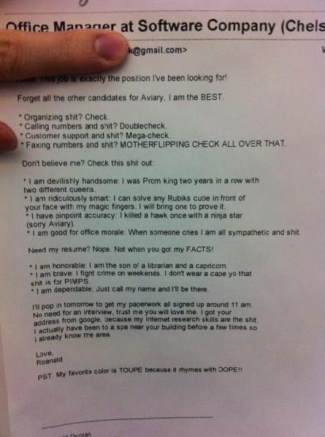 Dream Job CV