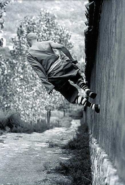 Shaolin Monk out for a walk