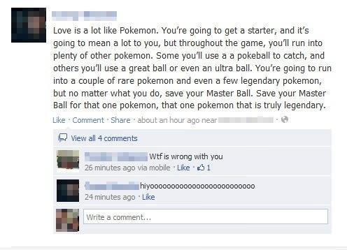 Love is like Pokemon