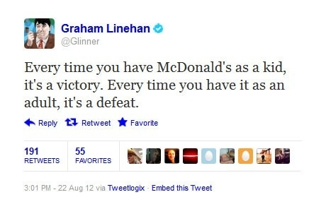 McDonald's as a kid
