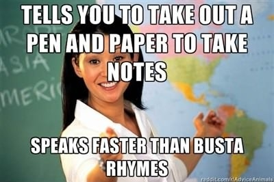 Most of my teachers