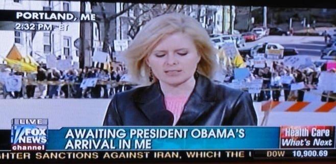 Awaiting the president..