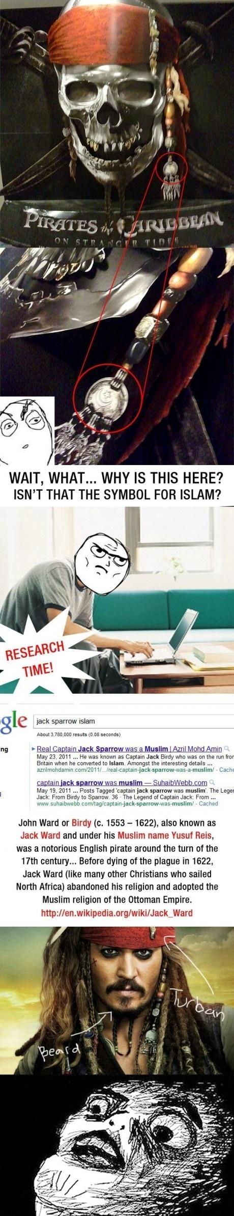 Jack Sparrow is a Muslim?
