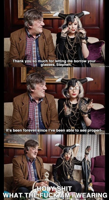 Lady Gaga and Stephen Fry