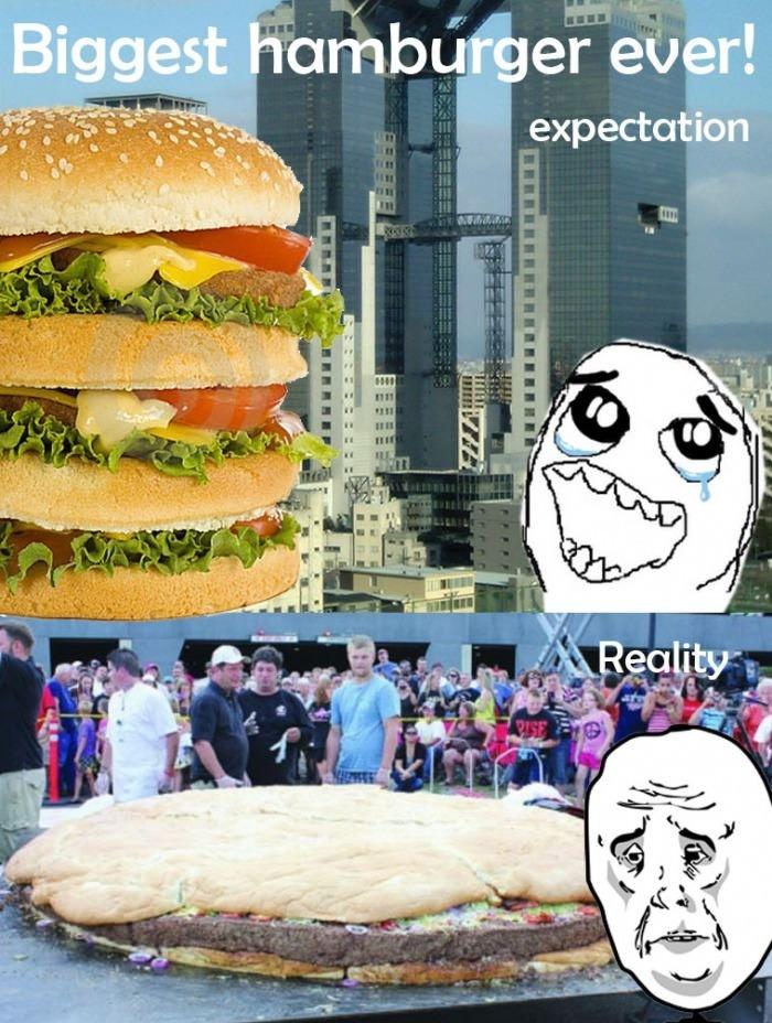 Biggest hamburger!