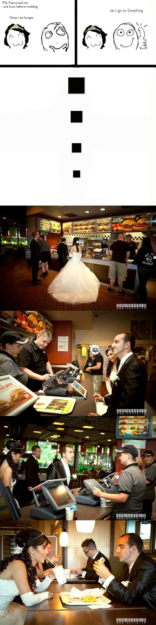 Burger King at wedding party