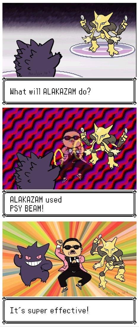 Alakazam used PSY beam