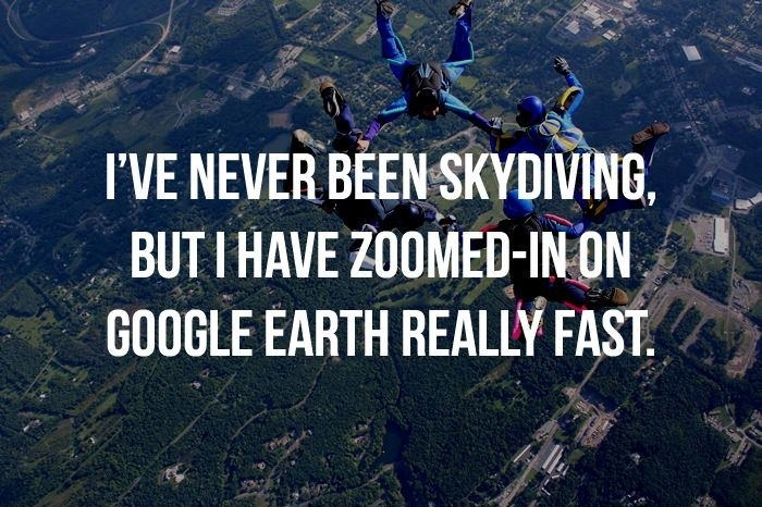Skydiving? Close enough!