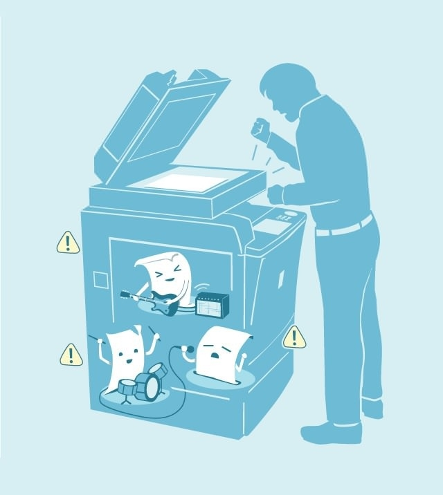 How it goes in the printer