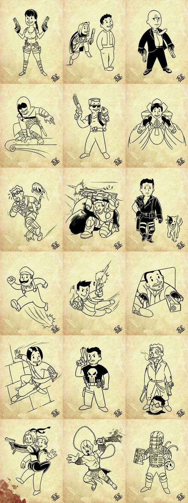 Characters from games