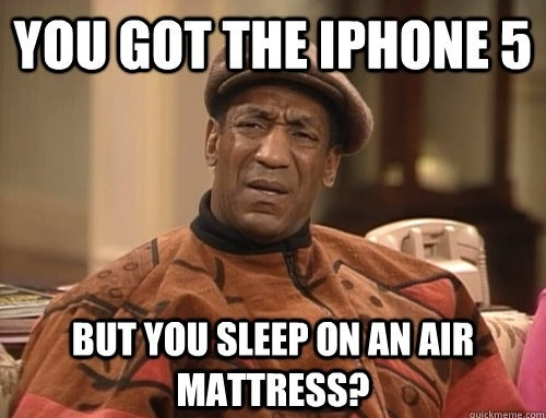 Confounded Cosby on iPhone5