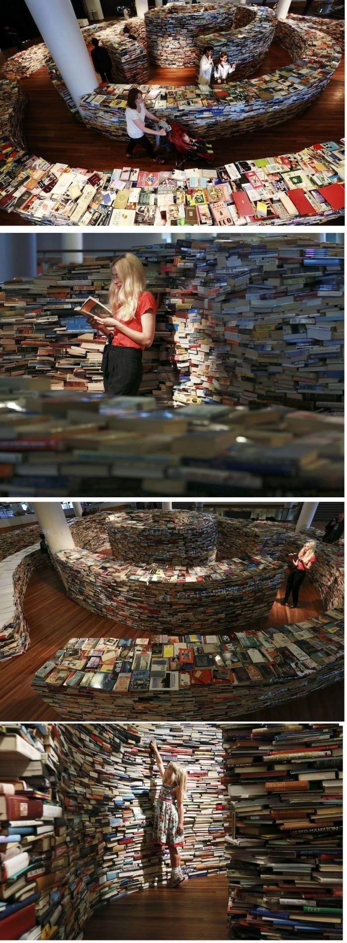 Maze made of books