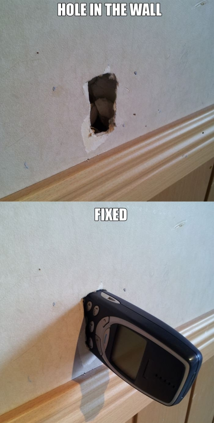 Fixed a hole in the wall