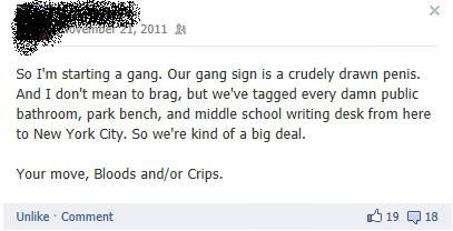 So, I'm in a gang