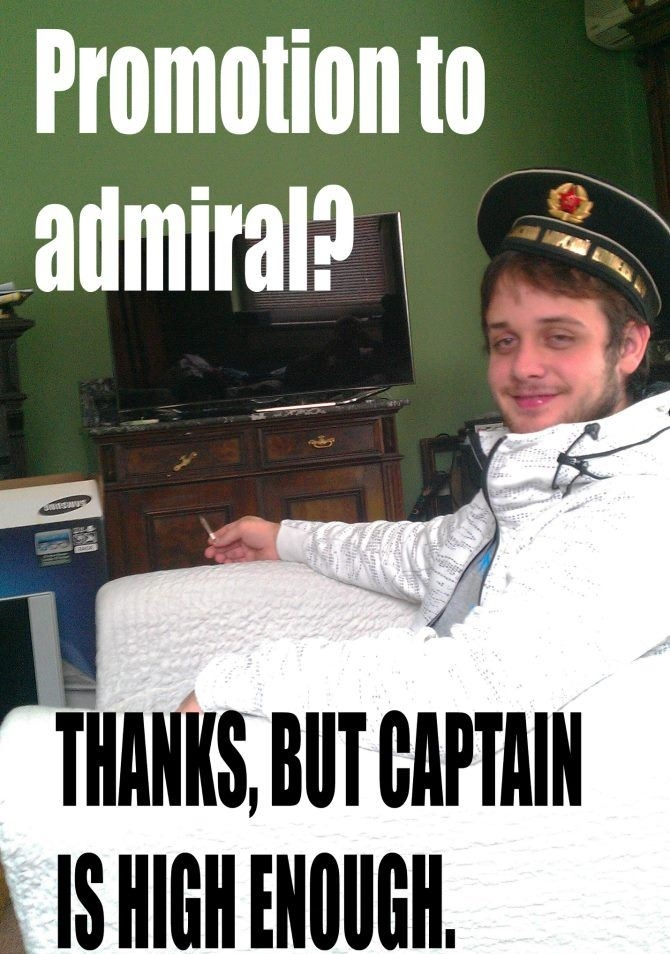 Promotion to Admiral?