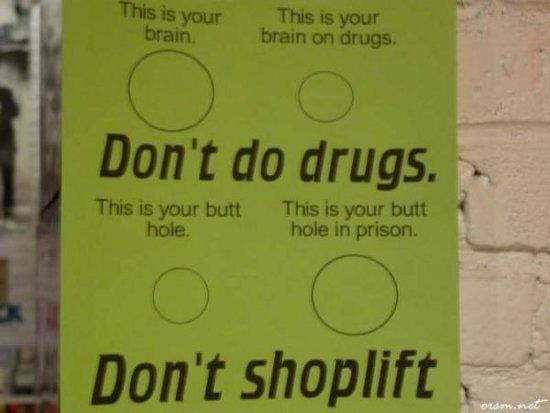 Don't shoplift!