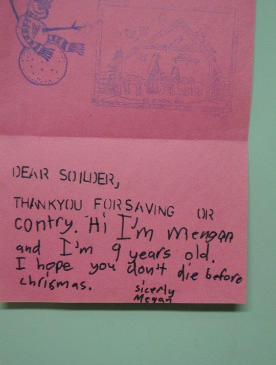 A friendly letter while in Iraq