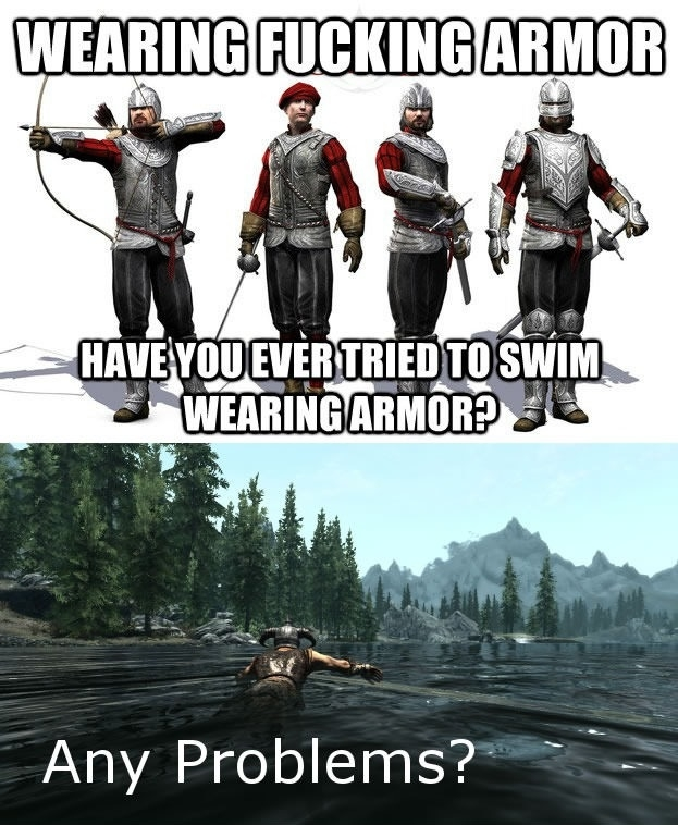 Swimming armour