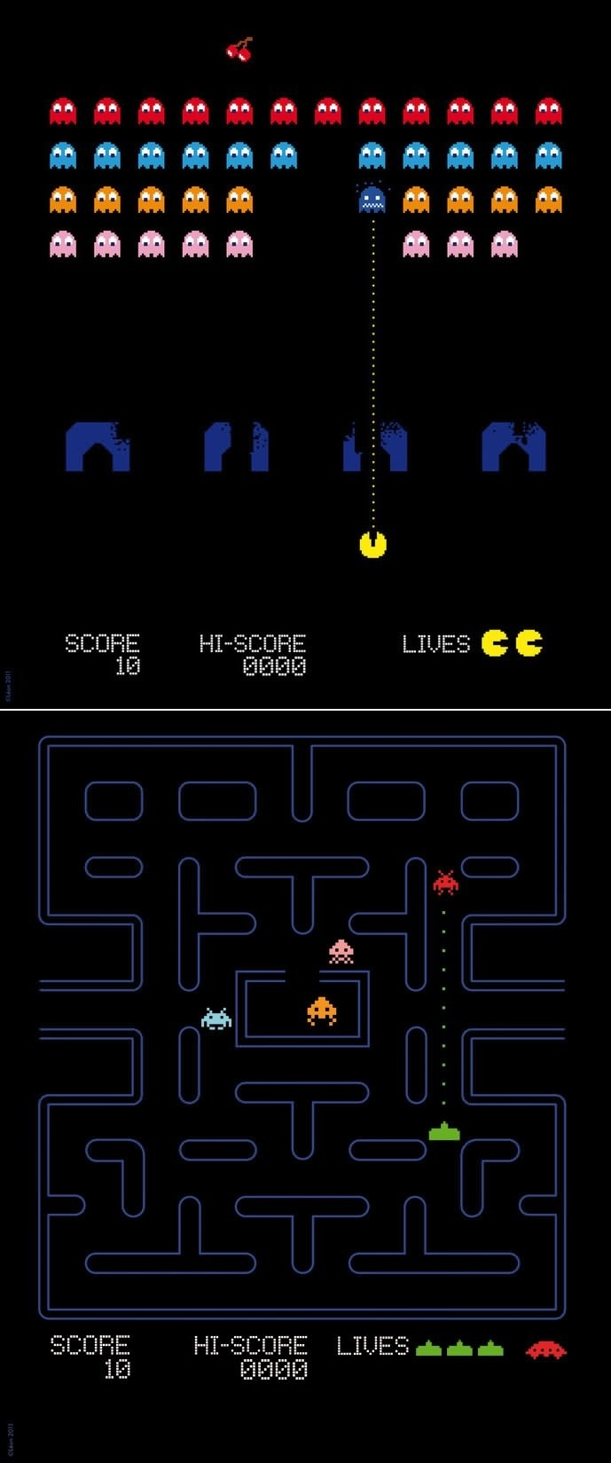 Pacman x Space Invaders