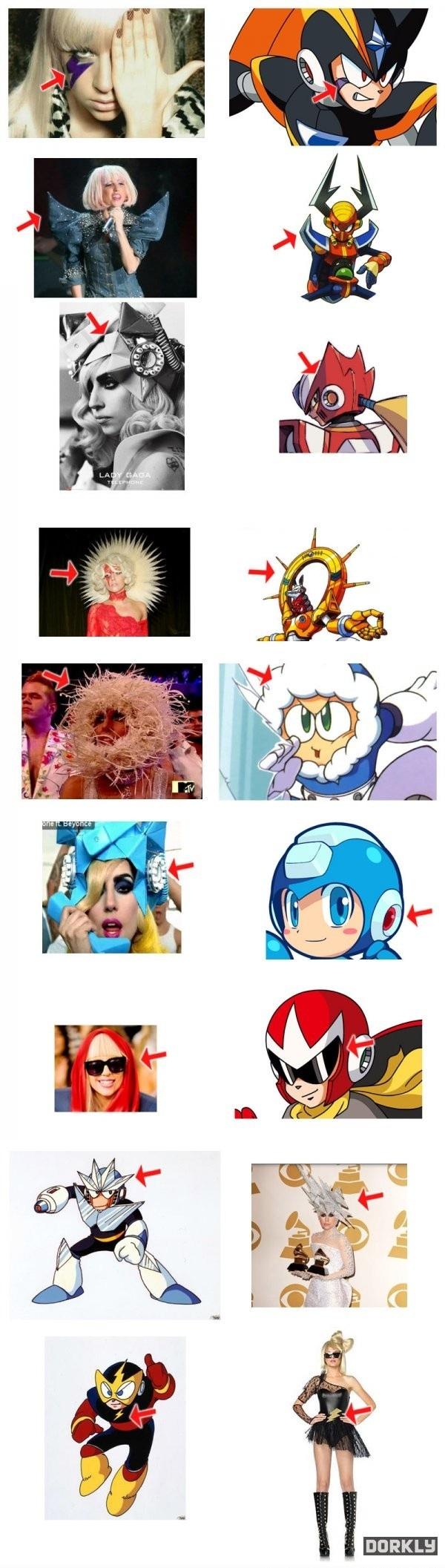 Gaga loves Mega Man