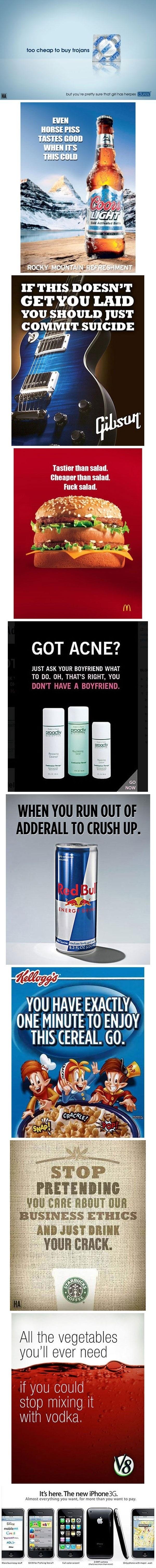 If ads were honest