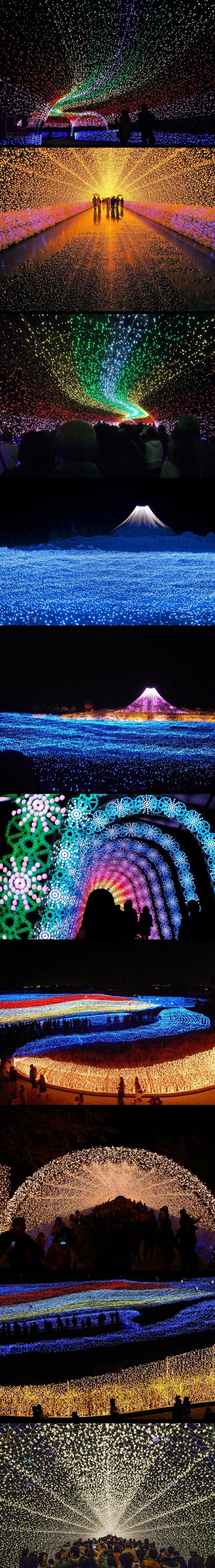 Winter light festival in japan