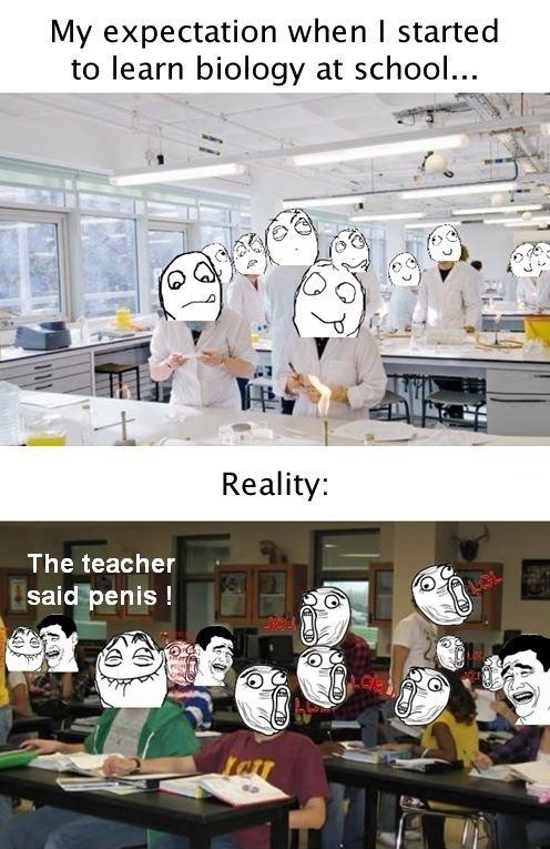 First biology class