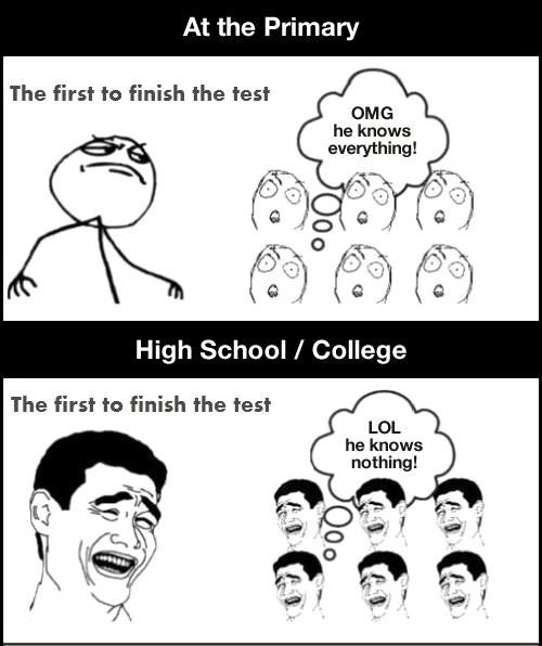 First to finish test