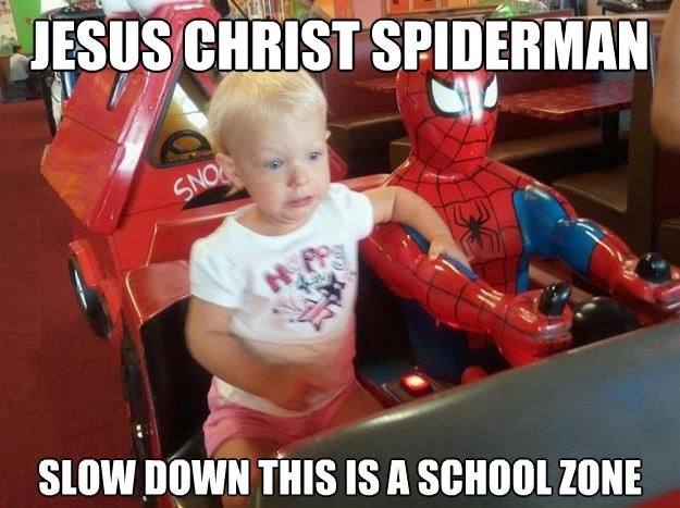 Jesus Christ Spiderman!