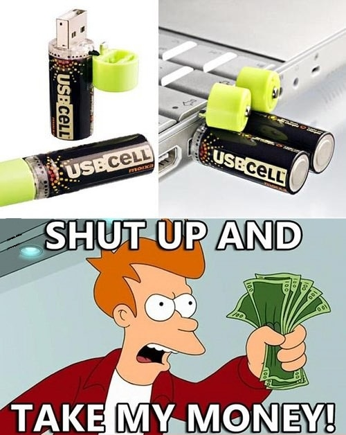 USB chargeable batteries