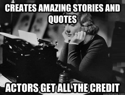 Bad luck writers