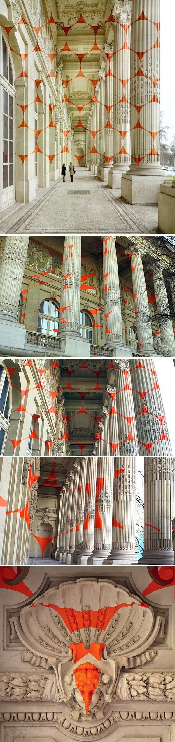 Large scale optical illusion