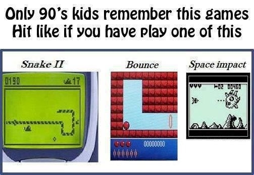 Remember these games?