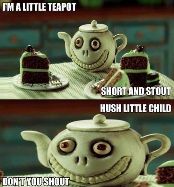Little evil teapot