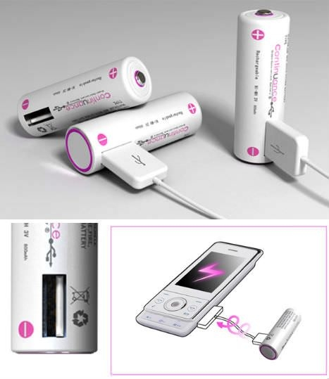 USB powered battery