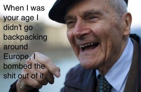 Grandpa reminiscing