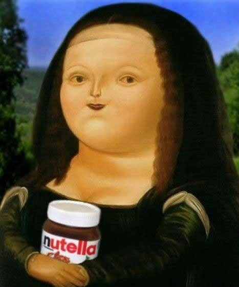 Fat version of Mona Lisa