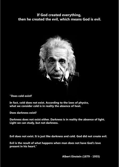 Einstein on God and Evil