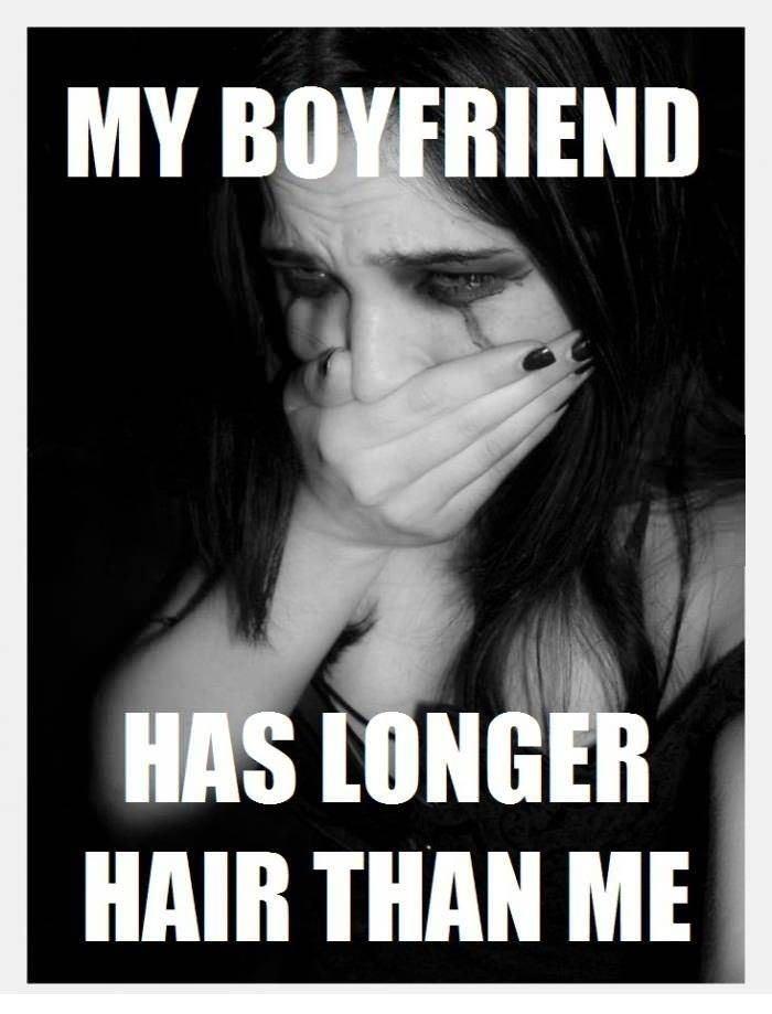 Metalhead girl problems