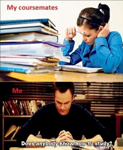 When I'm studying